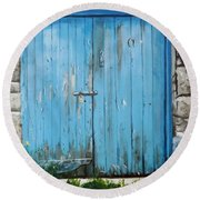 The Blue Door Round Beach Towel