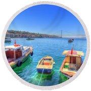 The Bosphorus Istanbul Round Beach Towel