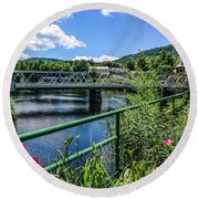 The Bridges At Shelbourne Falls Round Beach Towel