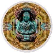 The  Buddhas Of Ayahrtyan  Round Beach Towel