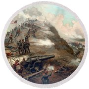 The Capture Of Fort Fisher Round Beach Towel by War Is Hell Store