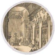 The Catafalque Of The Emperor Mathias Round Beach Towel