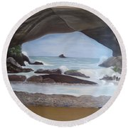 The Cave Round Beach Towel
