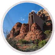 The Chapel Of The Holy Cross Round Beach Towel