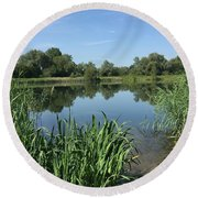 The Cotswold Water Park Round Beach Towel