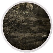 The Countryside Round Beach Towel