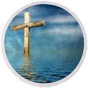 The Cross Round Beach Towel
