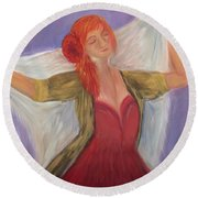 The Dancer Round Beach Towel