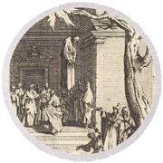 The Death Of Judas Round Beach Towel