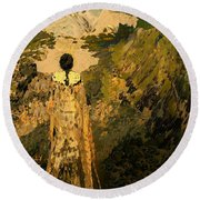 The Dream Of The Earth Round Beach Towel