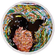 The Drowning Artist Round Beach Towel