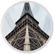 The Eiffel Tower In Paris Round Beach Towel