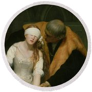 The Execution Of Lady Jane Grey Round Beach Towel