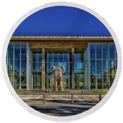 The Fort Worth Modern Art Museum Round Beach Towel