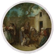 The Four Ages Of Man   Old Age Round Beach Towel