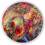 The Fruits Of Holy Land Round Beach Towel