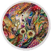 The Gestures Of Love Round Beach Towel