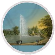 The Great Fountain Round Beach Towel