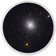 The Great Globular Cluster In Hercules Round Beach Towel