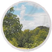 The Great Outdoors Round Beach Towel