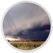 The Great Plains Round Beach Towel