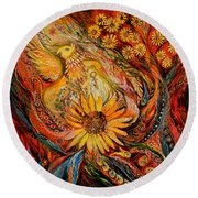 The Griffin Kingdom Round Beach Towel
