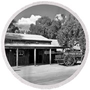 The Heritage Town Of Echuca Victoria Australia Round Beach Towel