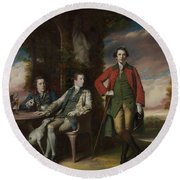 The Honorable Henry Fane With Inigo Jones And Charles Blair Round Beach Towel