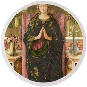 The Immaculate Conception Round Beach Towel