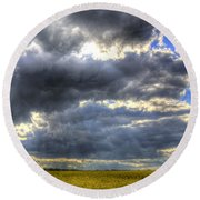 The Impending Storm Round Beach Towel