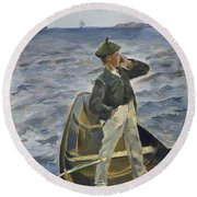 The Inshore Channel Round Beach Towel