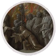 The Introduction Of The Cult Of Cybele At Rome Round Beach Towel