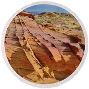 The Many Colors Of Valley Of Fire Round Beach Towel