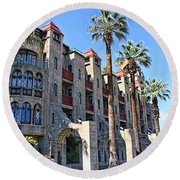 The Mission Inn  Round Beach Towel