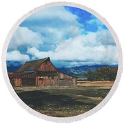 The Moulton Barn Round Beach Towel
