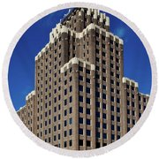 The National Archives Building - St Louis Round Beach Towel