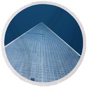 The One World Trade Centre Or Freedom Tower New York City Usa Round Beach Towel