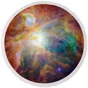 The Orion Nebula Round Beach Towel by Stocktrek Images