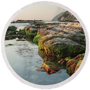 The Passetto Rocks At Sunrise, Ancona, Italy Round Beach Towel