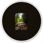 The Path To Righteousness Round Beach Towel