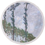 The Poplars Round Beach Towel