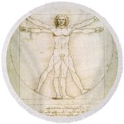 The Proportions Of The Human Figure Round Beach Towel