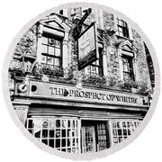 The Prospect Of Whitby Pub London Art Round Beach Towel
