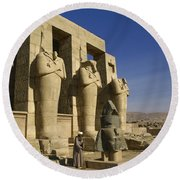 The Ramesseum Round Beach Towel
