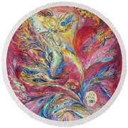 The Red Scirocco Round Beach Towel