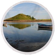 The River Aln Round Beach Towel
