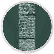 The Rosetta Stone Round Beach Towel