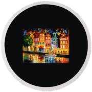 The Sky Of Amsterdam Round Beach Towel
