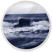 The Song Of The Ocean Round Beach Towel