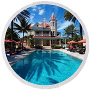 The Southernmost House Round Beach Towel